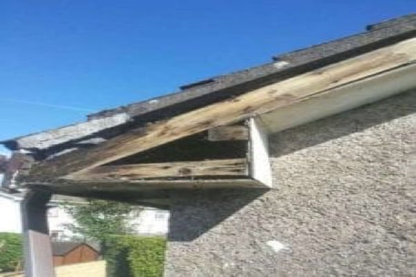 Before Rotted PVC Fascia and Soffit Sheffield